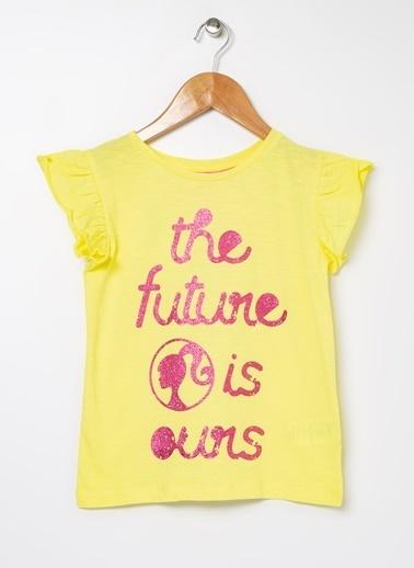 Barbie Bisiklet Yaka Tişört Sarı